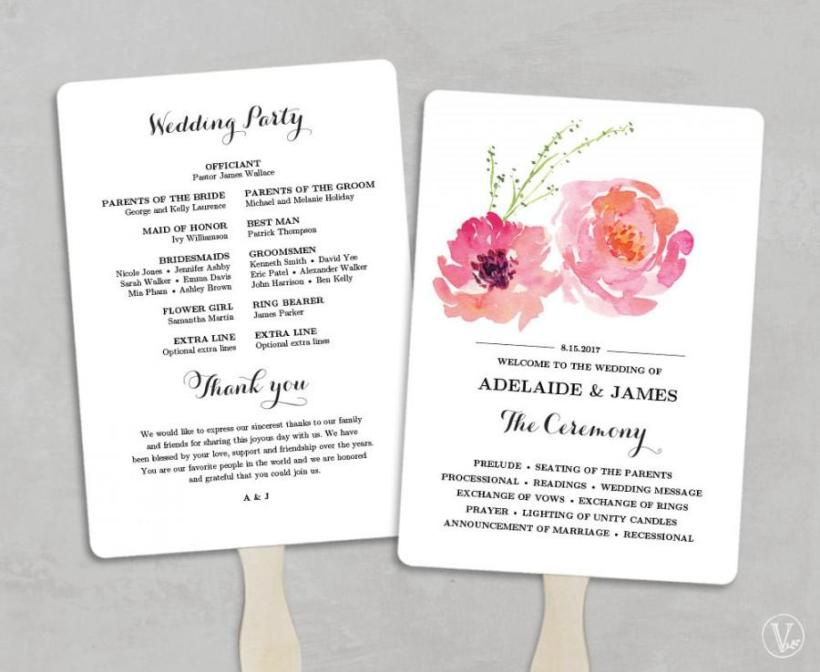 Wedding programs fans diy deweddingjpg printable wedding program fan template fans diy solutioingenieria Image collections