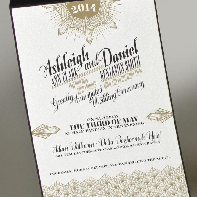 Great Gatsby Wedding Invitation