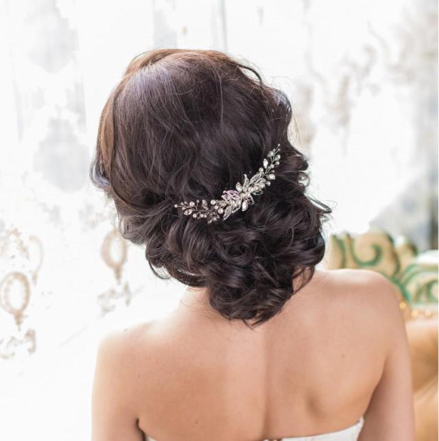 bridal hair comb bridal hair piece bridal headpiece leaf