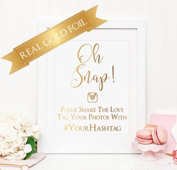 Wedding Hashtag Sign, Wedding Signs, Spring Wedding, Oh ...