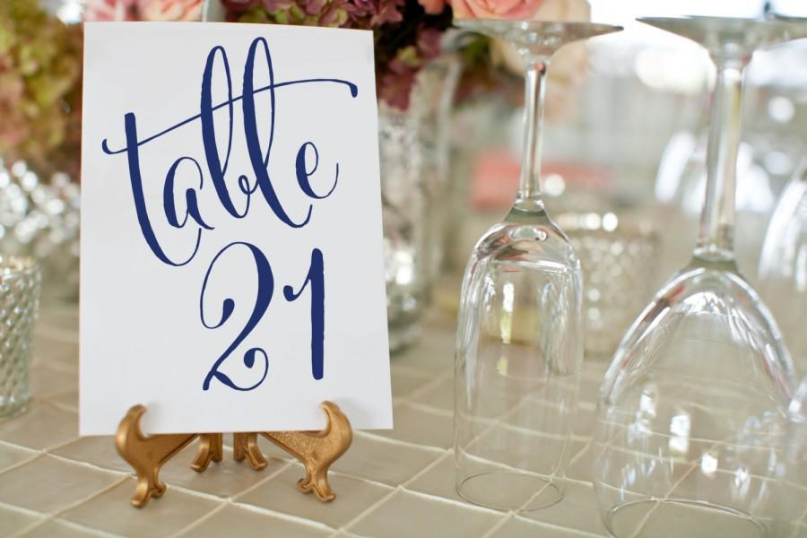 1 30 NAVY Wedding Table Numbers Printable Wedding Table