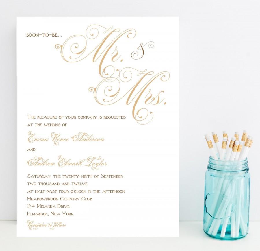 mr and mrs and family wedding invitation deweddingjpgcom