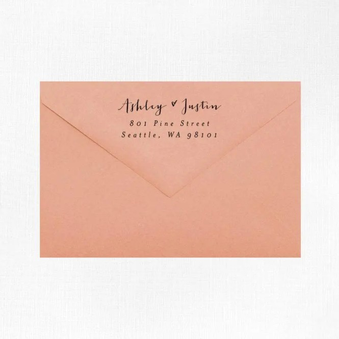 Return Address Stamp Style 18 Wood Mounted Or Self