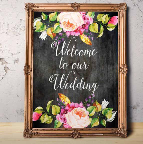 Welcome To Our Wedding Digital Download Wedding Sign