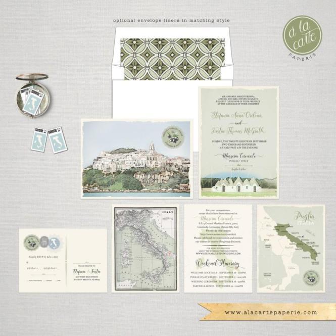 Destination Wedding Italy Invitation Suite South