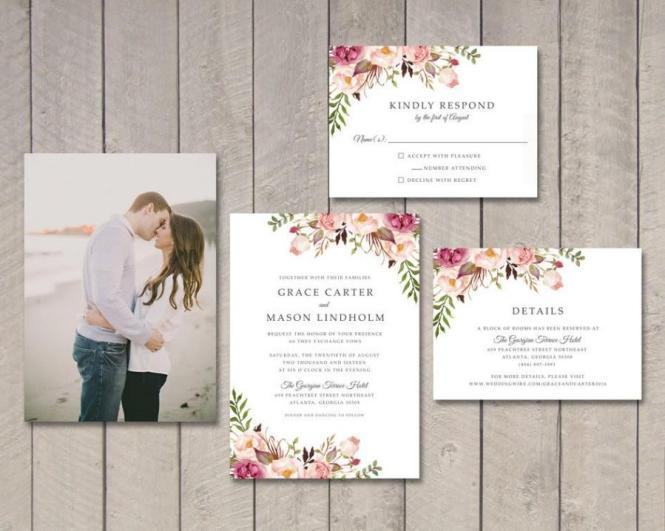 Wedding invitations details wedding invitation printable wedding invitation set invite rsvp card details stopboris Choice Image
