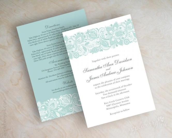 Lace Wedding Invitation Invitations
