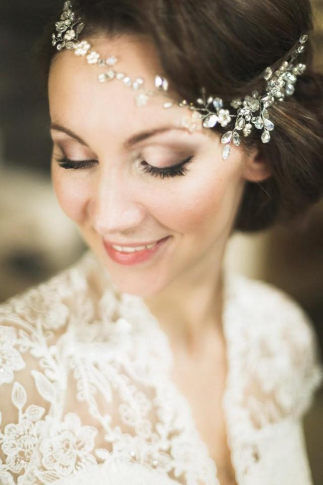 bridal headpiece, crystal bridal hair piece, cristal bridal