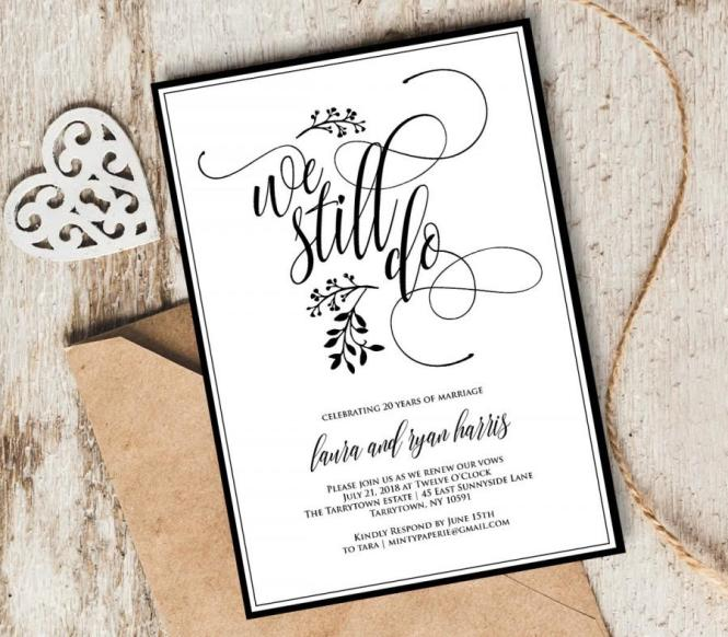Vow Renewal Invitation Template We Still Do Instant