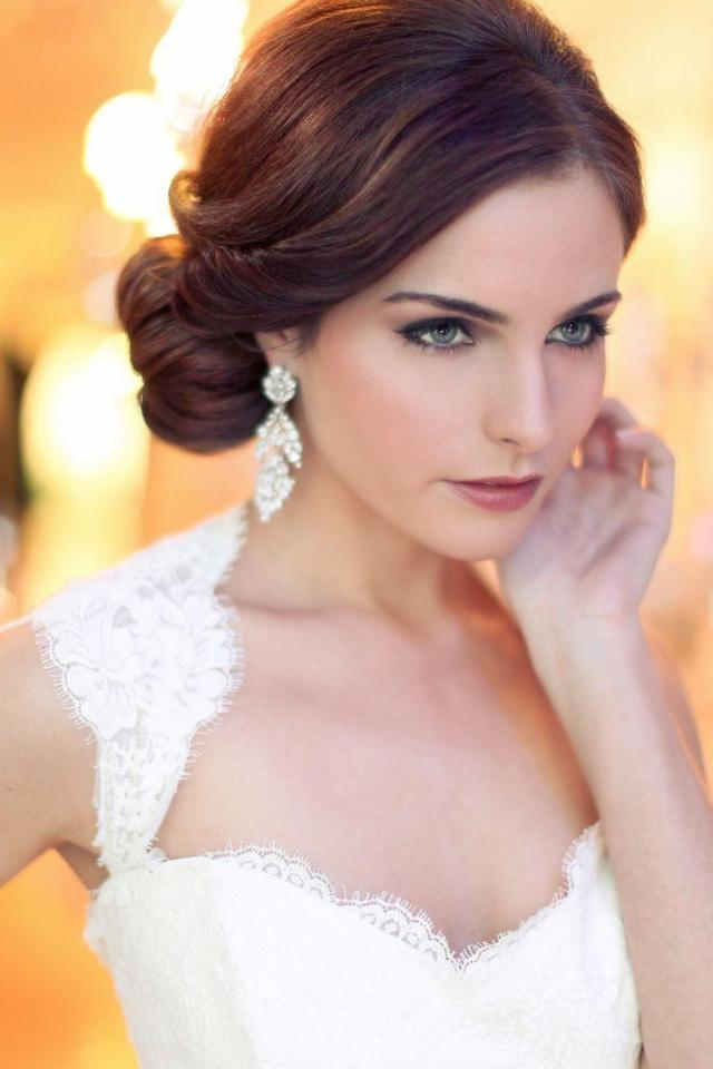 18 romantic vintage hairstyles for wedding day #2564943