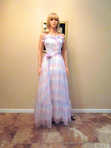 Pink and White Tie Dye Prom Dress Prom Dresses dressesss Pink and White Tie Dye Prom Dress