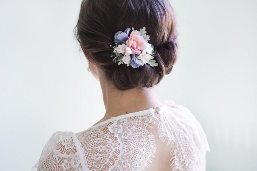 floral headpiece flower hair clip floral wedding hair accessories hair flower clip bridal headpiece pink blue hair clip lottie
