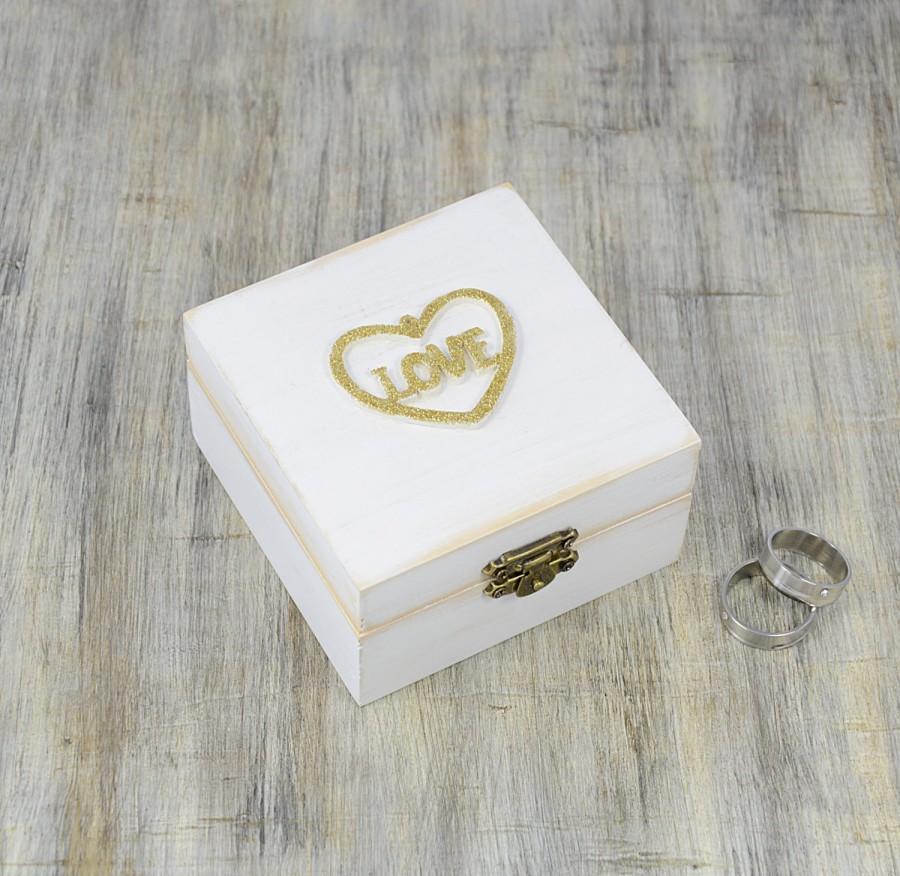 white gold ring bearer box love wedding ring box pillow alternative distressed wooden ring box wedding gold heart ring bearer pillow 2587066 weddbook