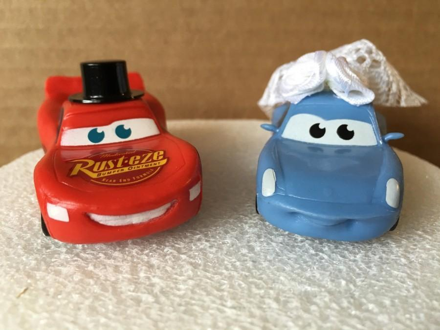 Lightning McQueen And Sally Mater Wedding Cake Topper  Cars Cake     Lightning McQueen and Sally Mater Wedding Cake Topper  Cars Cake Topper  Cars  Wedding Cake  Wedding Topper