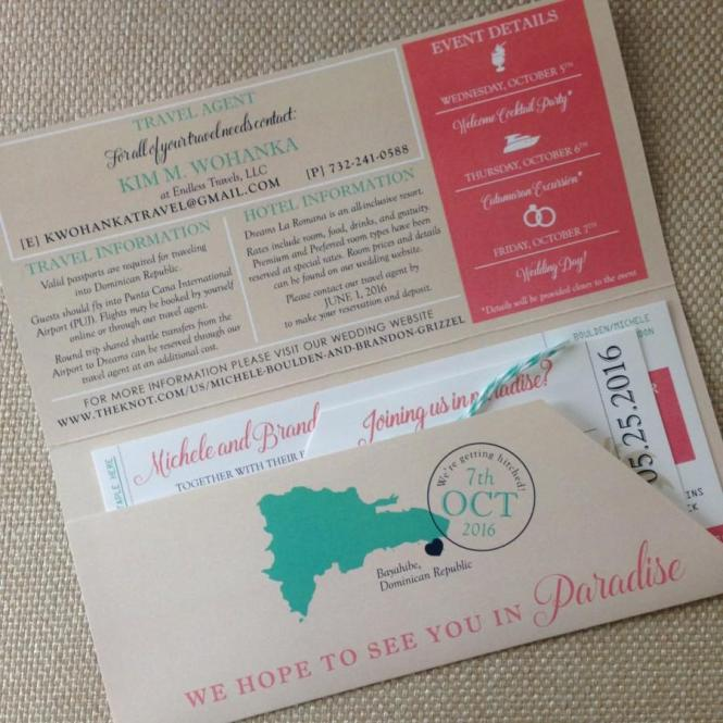 Boarding Pass Invitation And Luggage Tag Rsvp Destination