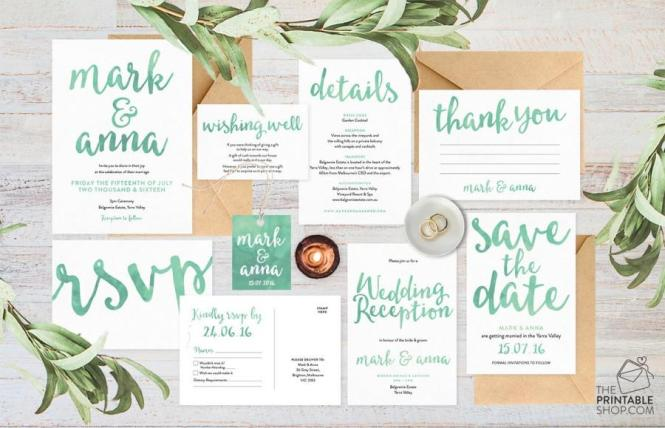 Wedding Invitation Set Suite