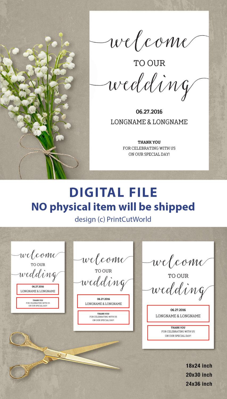 welcome wedding sign welcome wedding template welcome sign wedding minimalist modern printable wedding poster board script font diy pdf 2605713 weddbook