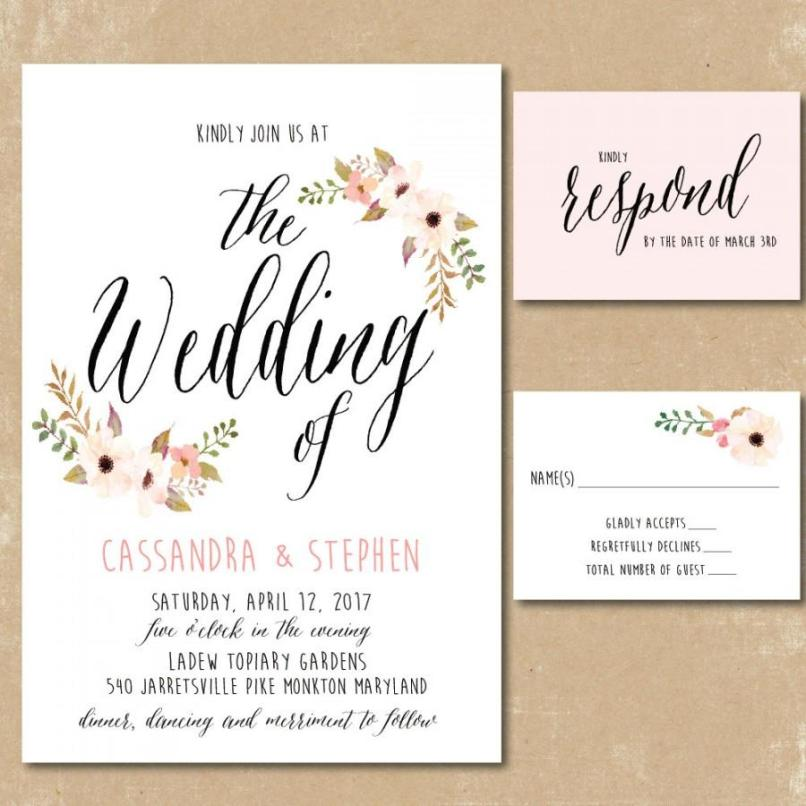 Print Your Own Wedding Invitations Free | Poemdoc.or