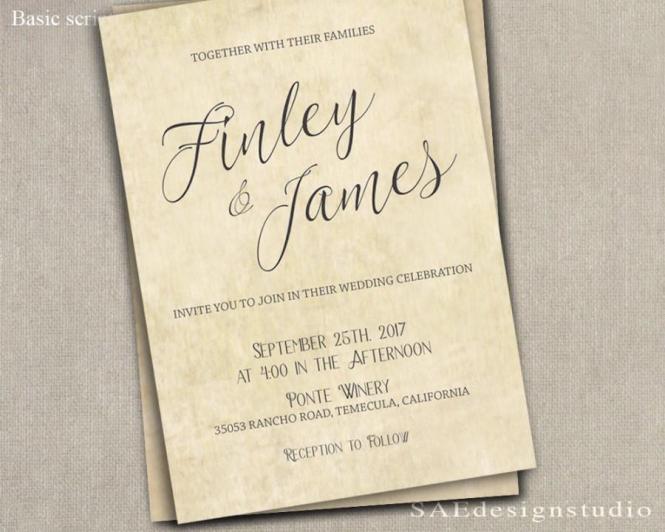 Country Rustic Wedding Invitation