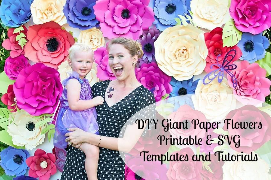 Giant Paper Flower Templates Tutorials Printable Flower Templates Svg Flower Cut Files 2616969 Weddbook