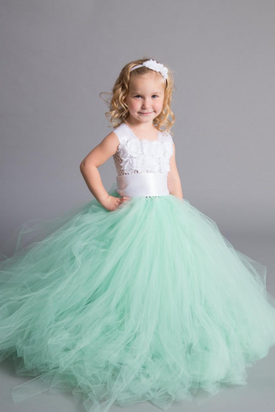 Flower Girl Dress Tulle Flower Girl Dress Mint Dress