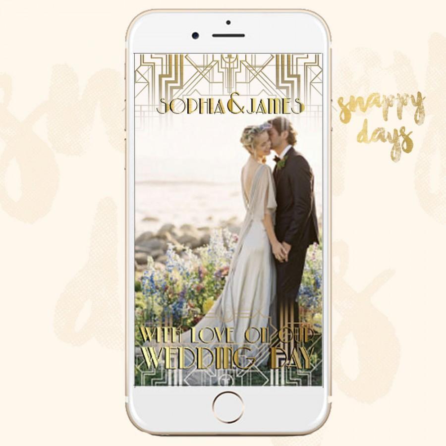 SNAPCHAT Geofilter GATSBY Art Deco 1920s Wedding Filter