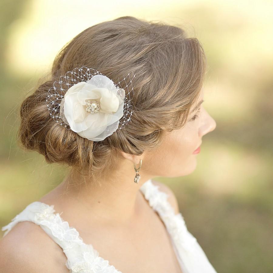 wedding hair flower champagne wedding hair piece bridal headpiece champagne accessories hair accessories vintage rustic bridal flower