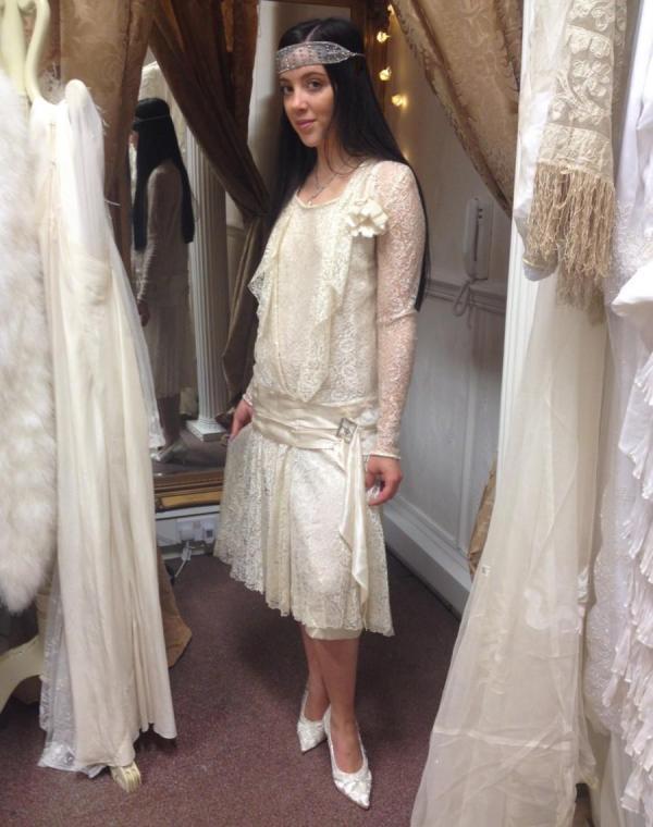 Amazing Original 1920's Flapper Gatsby Wedding Dress By ...