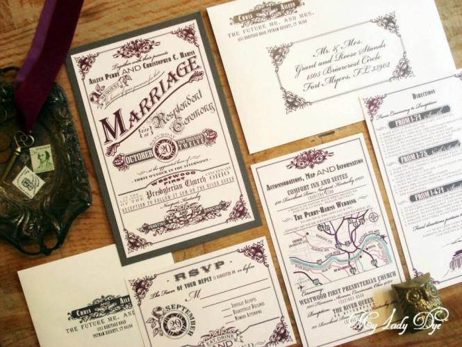 100 Vintage Wedding Invitations Steampunk
