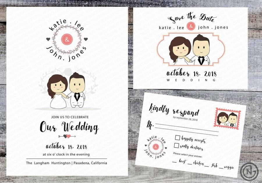 Undangan Pernikahan Cute 2
