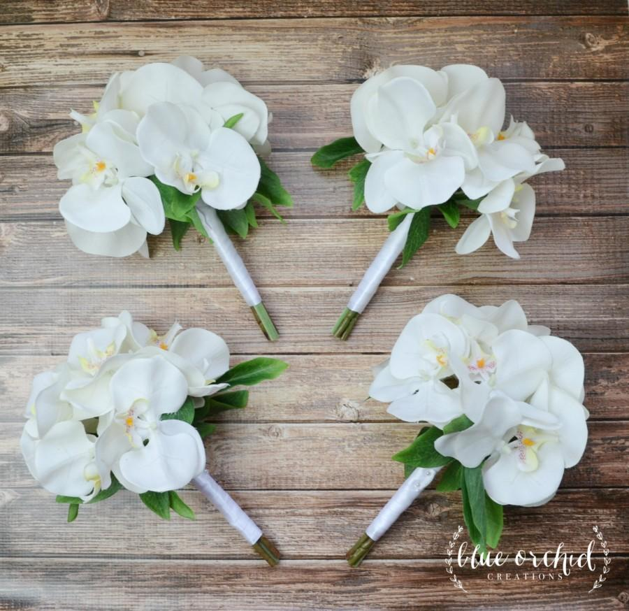 Bridesmaid Bouquet White Orchid Bridesmaid Bouquet