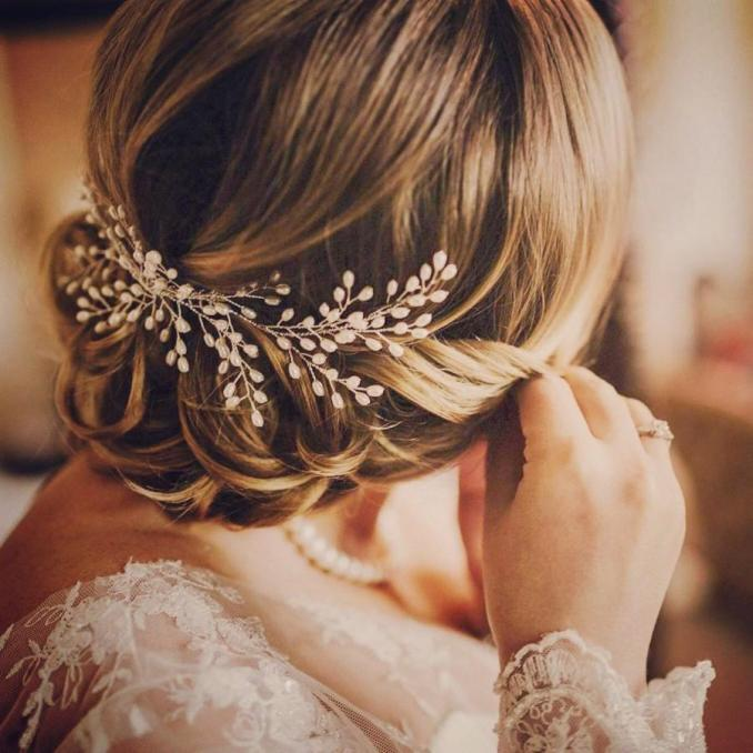bridal headpiece, bridal halo for updo, hair vine