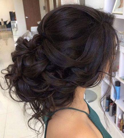 hair loose curls updo wedding hairstyle weddbook