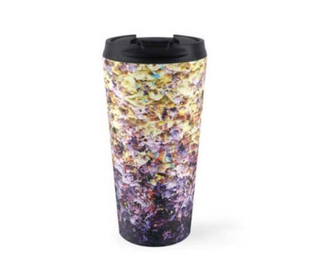 Abstract Art Coffee Mug Oz Stainless Steel Travel Mug Yellow Purple Coffee Travel Cup Expressionist Art Water Bottle Pretty Tea Cup