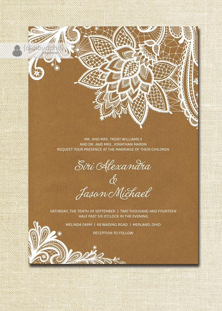 Cheap Wedding Invitations Lace