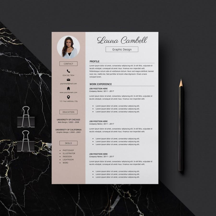 Modern Resume Template  CV Template For Word  Cover Letter     Modern Resume Template  CV Template for Word  Cover Letter   References   Teacher Resume  Professional Resume  Instant Download Resume