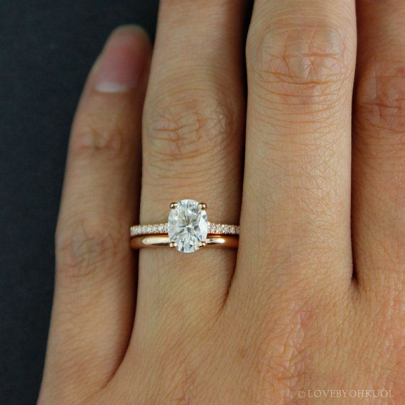 Forever One D E F Colorless Oval Solitaire Engagement Ring