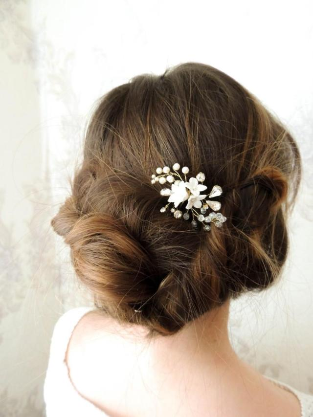 bridal hair pins crystal hair pins pearl hair pins swarovski