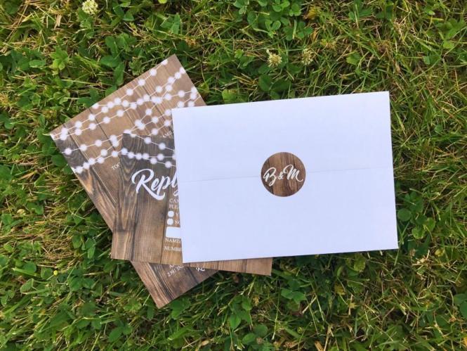 Envelope Seals Stickers Labels Monogram Matching