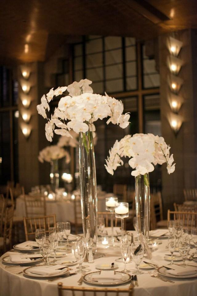 Centerpieces The Gorgeous White Orchid Centerpieces