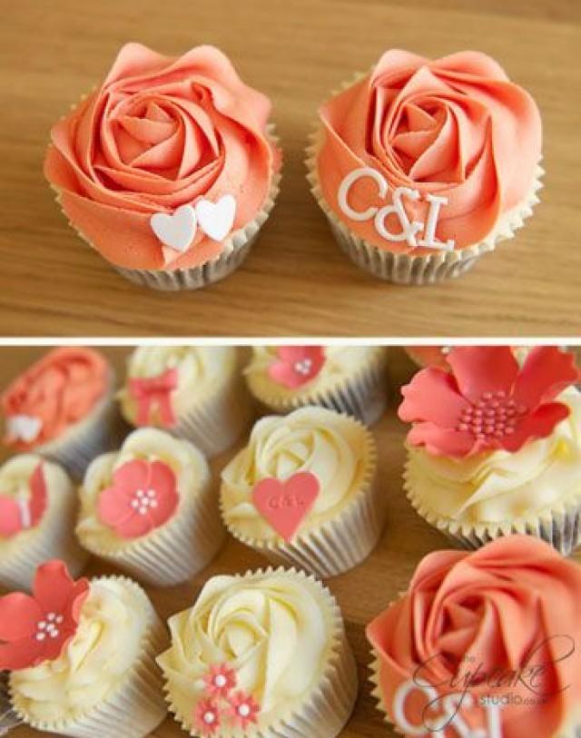 Coral Wedding Coral Wedding Cupcakes 2048514 Weddbook