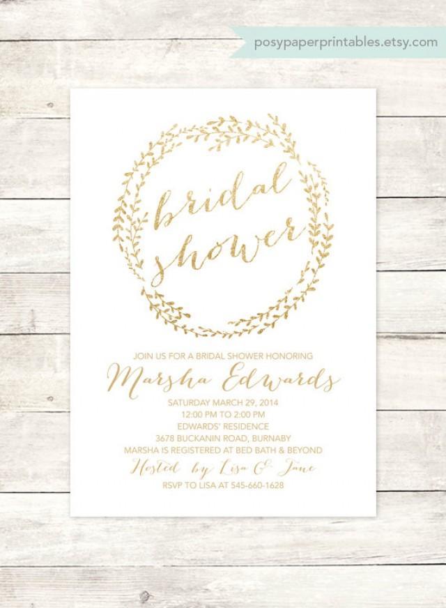 Digital Bridal Shower Invitations
