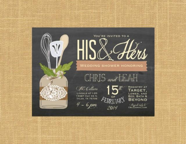 His And Hers Wedding Shower Invitations