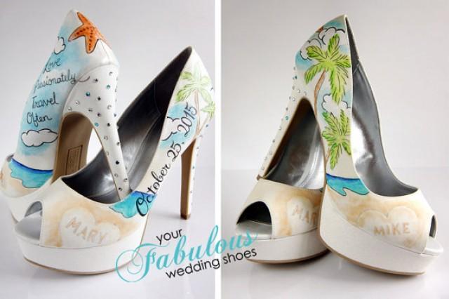 Beach Wedding Shoes, Destination Wedding Personalized