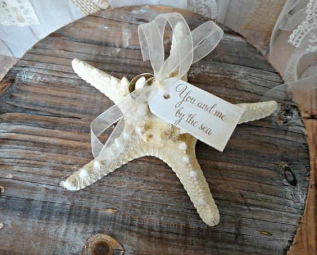 Large Starfish Wedding Ring Holder Beach Wedding