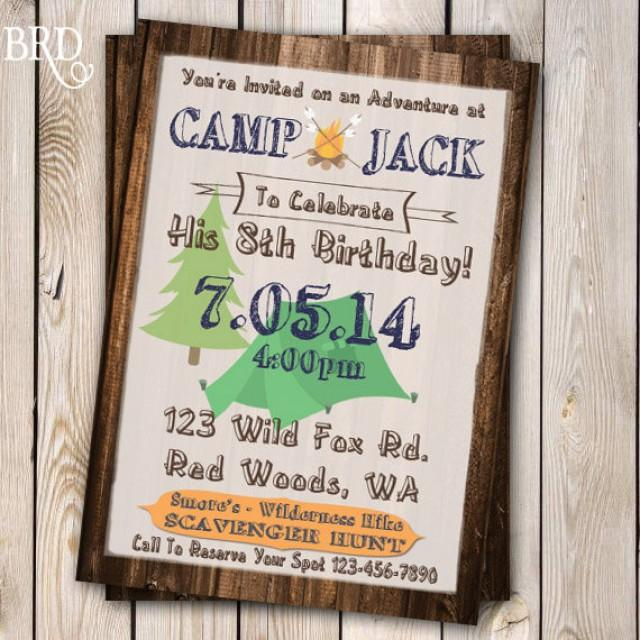 camping invitation campout party invitation campout birthday wilderness party bachelor party invitation 5x7 printable 2288102 weddbook
