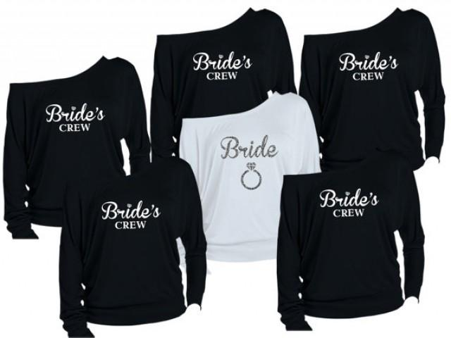 8 Personalized Bridesmaids Shirts. Brides Shirts. Maid Of