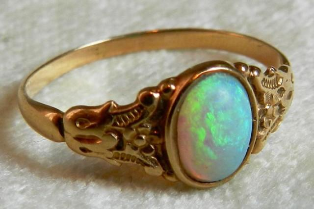 Victorian Opal Ring Opal Engagement Ring Antique