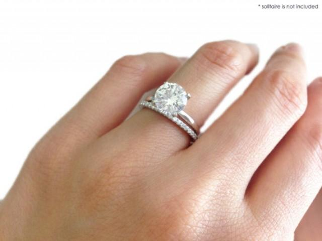 Small Brilliant Round Cut Eternity Wedding Band Only