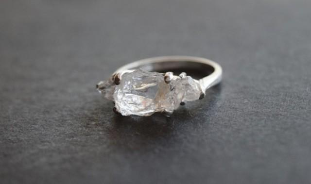 Handmade Raw Diamond Engagement Ring Rough Diamond